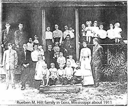 Rueben M. Hitt famly about 1911