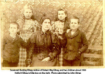 Susannah Buckley Ellzey and children about 1900